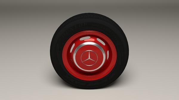 3d mercedes wheel
