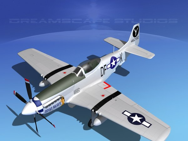 3d p-51d cockpit propeller