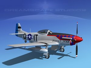 3d model of p-51d cockpit propeller
