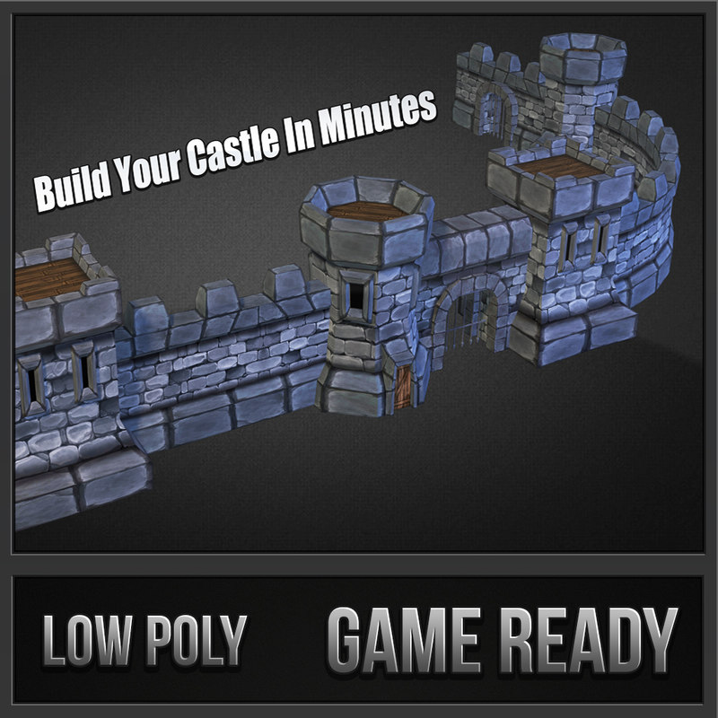 3dsmax medieval castle pack stone