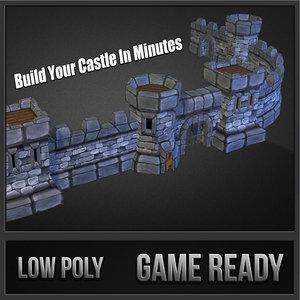 3dsmax medieval castle pack stone