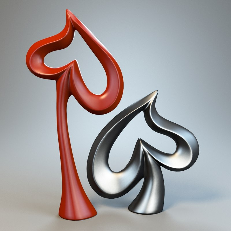 3d heart sculpture model