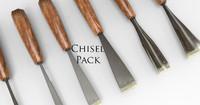 wood chisel 3d model