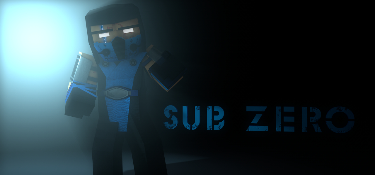 minecraft sub zero 3d model