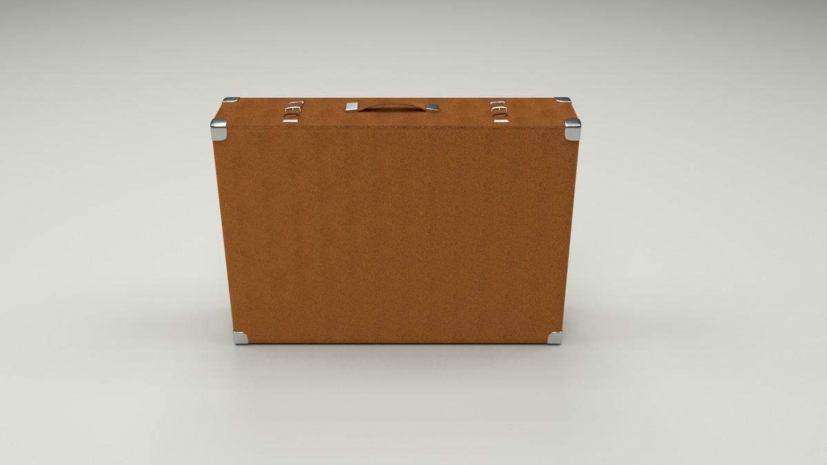 suitcase suit case 3d obj