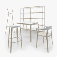 steelwood bouroullec 3d model