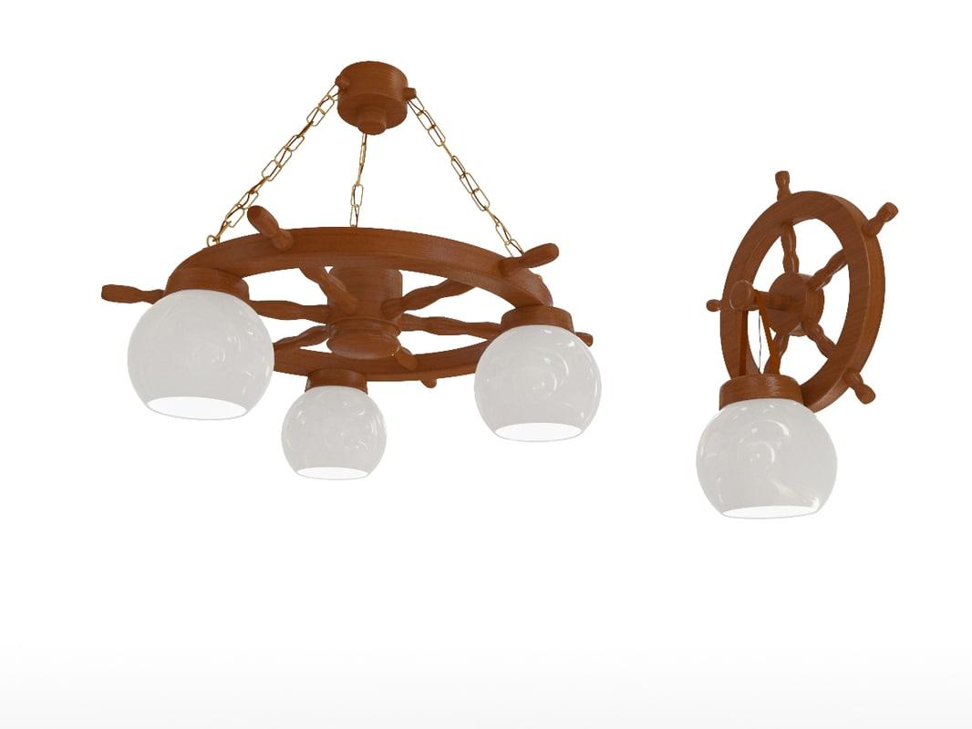 3d model chandeliers sconces