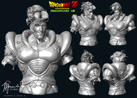 3d model of android 16 dragon ball