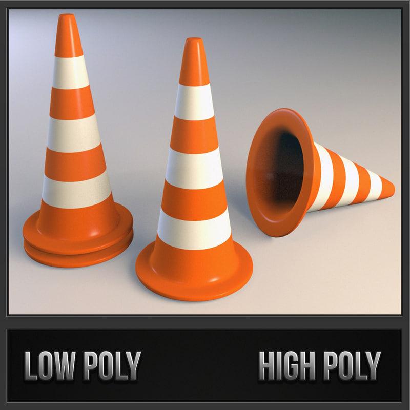 3d model of traffic cone