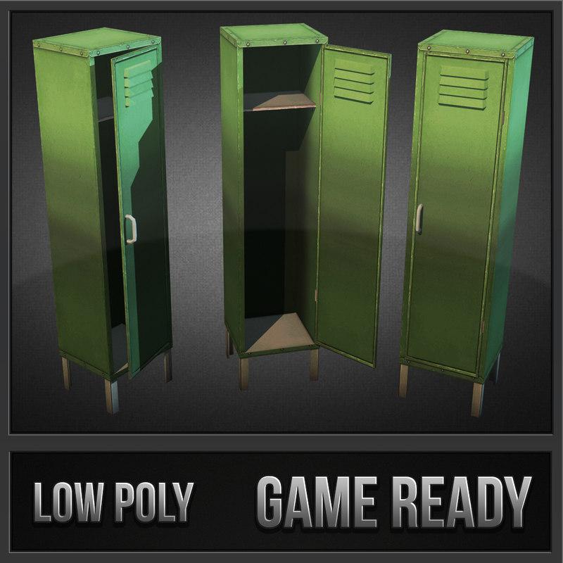 metal locker 3d model