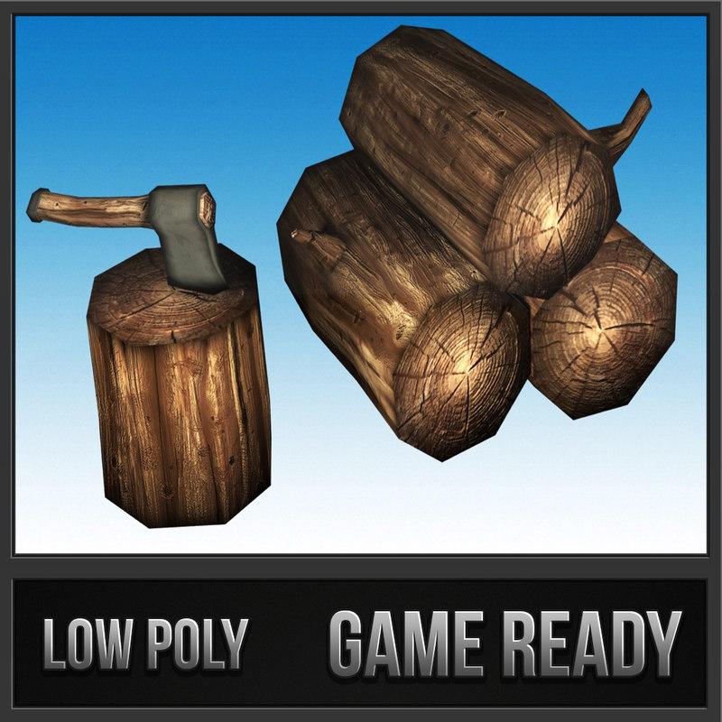 3d model of lumbers axe - polys