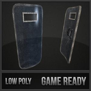 riot shield 3d max