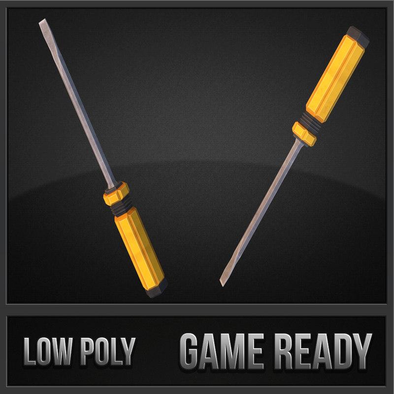 screwdriver weapons polys max