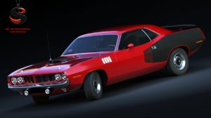 plymouth cuda 426 3d model