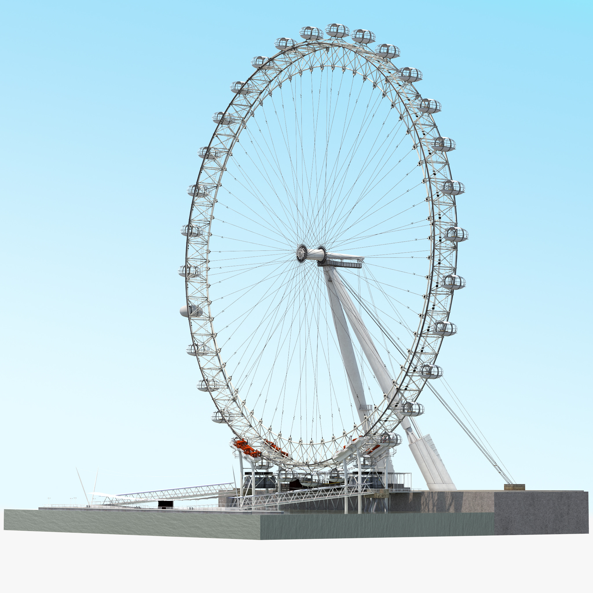 3ds max london eye
