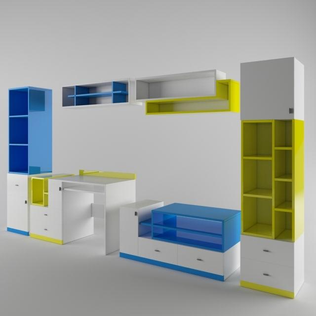 3d room furniture hoff model
