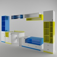 3d room furniture hoff model