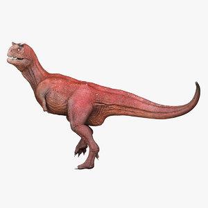 carnotaurus dinosaur rigged 3d ma