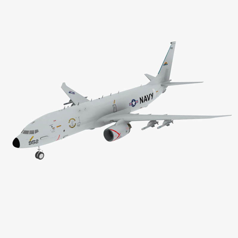 3d model poseidon p8a aircraft
