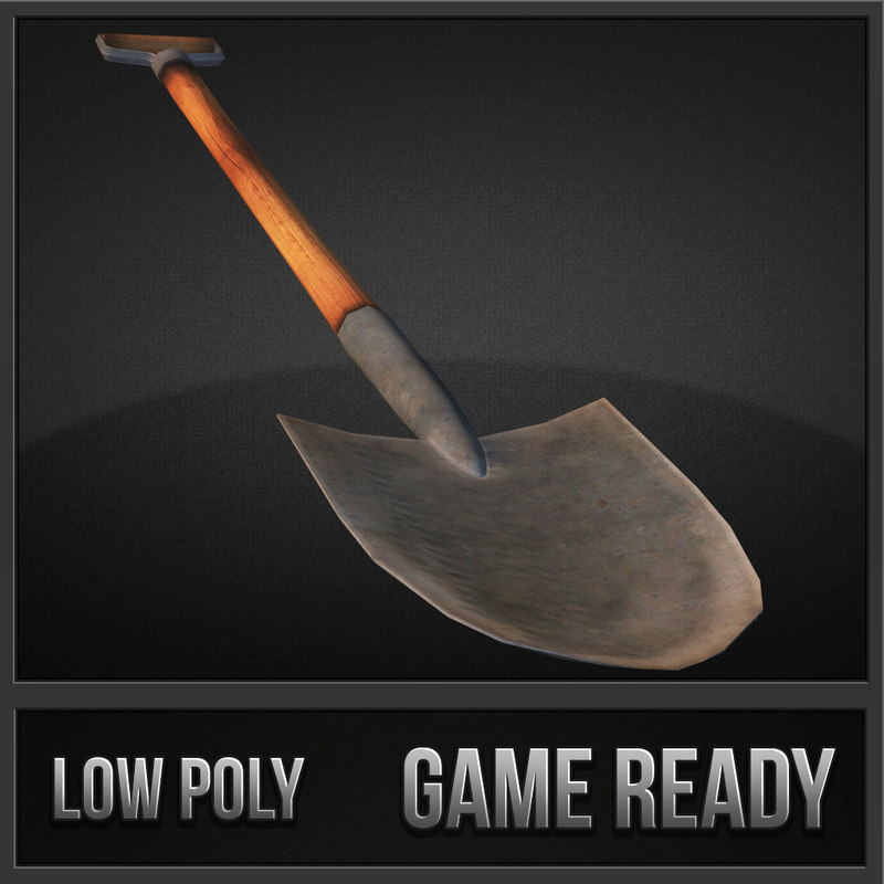 shovel tool weapon 3d model