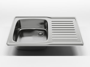 3d model kitchen sink 1