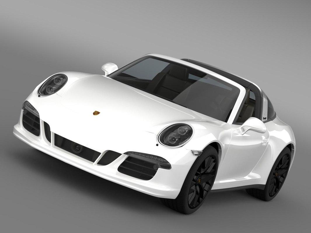 3d model porsche 911 targa 4