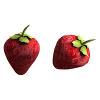 3dsmax strawberry berry