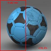 3d ball soccer black