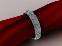 Eternity ring with pave diamonds