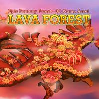 fantasy lava forest 3d max