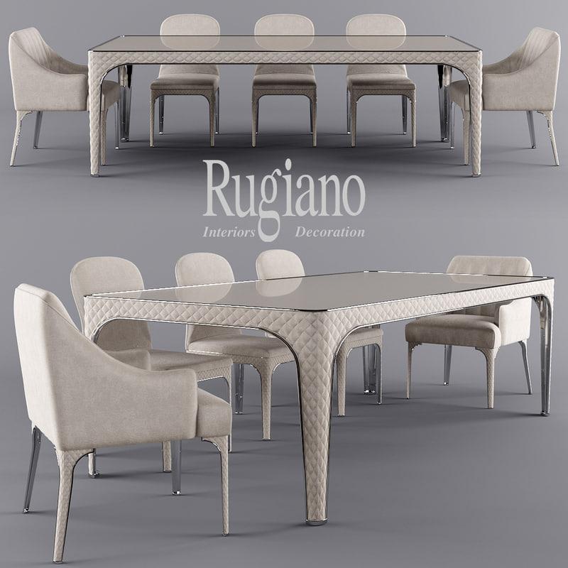 table alexander viviane 3d model