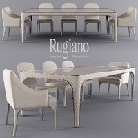 table rugiano Alexander, chair rugiano Viviane, chair rugiano Arianna