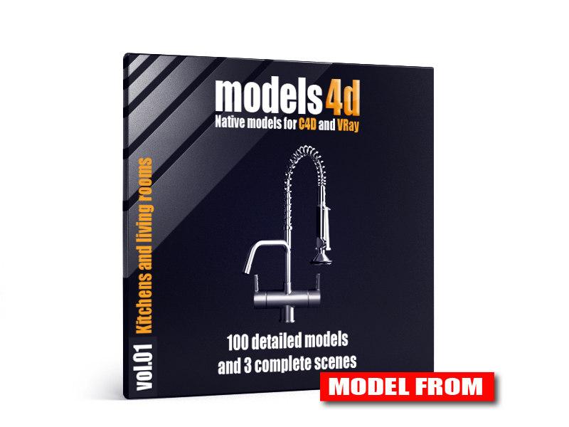3d model vol 1 kitchens living rooms