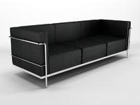 le corbusier sofa 1 3d model