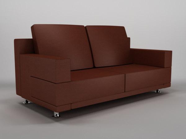 sofa 1 3d c4d