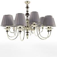 3d model murano chandelier