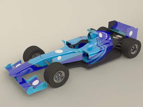 generic f1 car 3d c4d