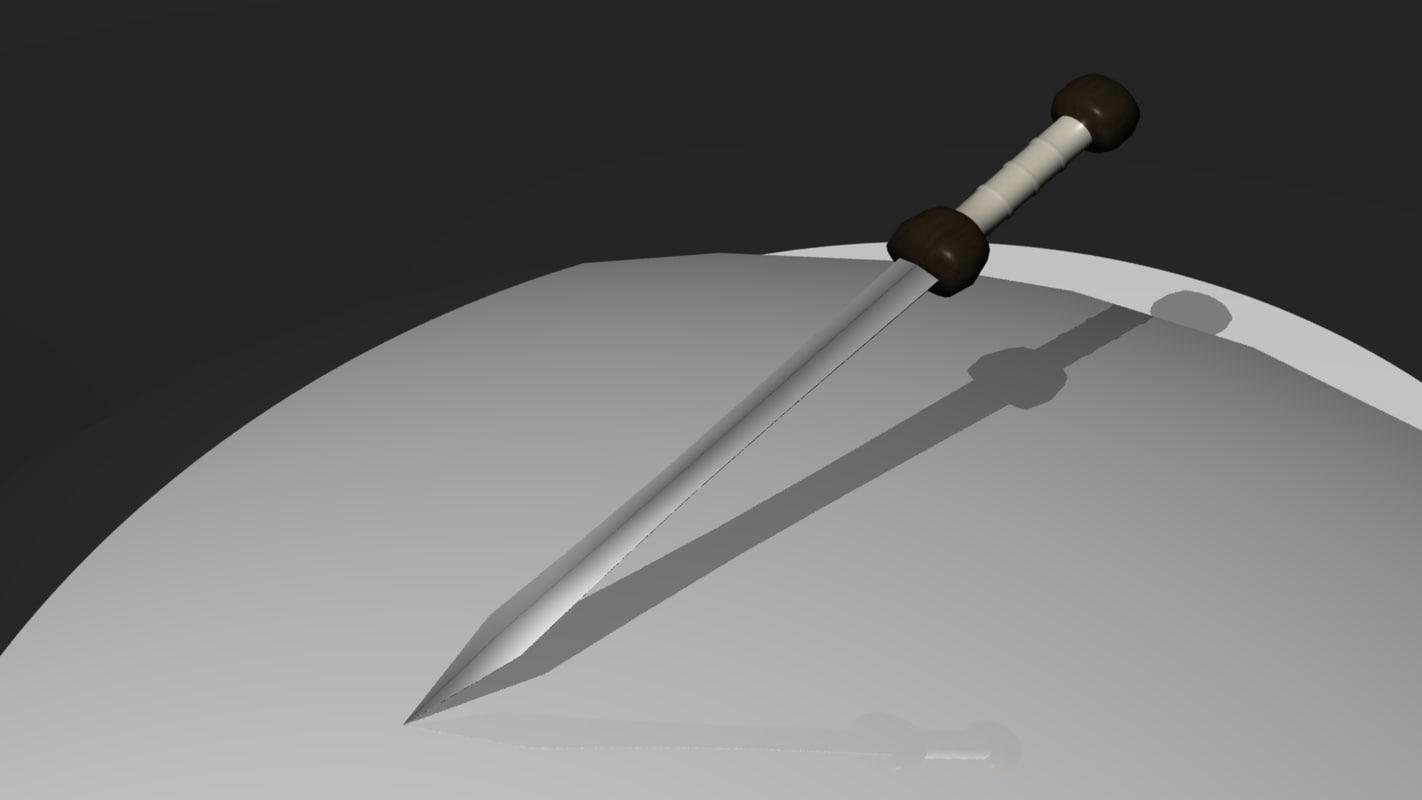 3d roman short sword model