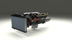 mercedes engine assembly 3d model