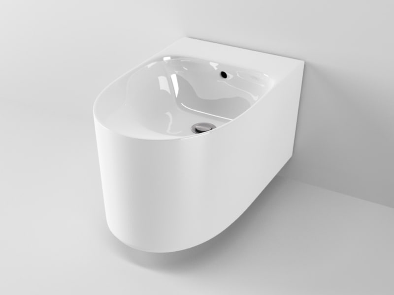 ideal standard moments bidet 3d c4d