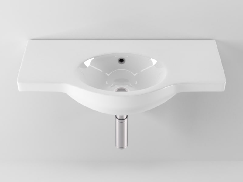 3d ideal standard small washbasin