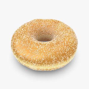 3d donut sugar
