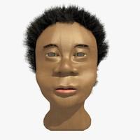 african male head winston c4d