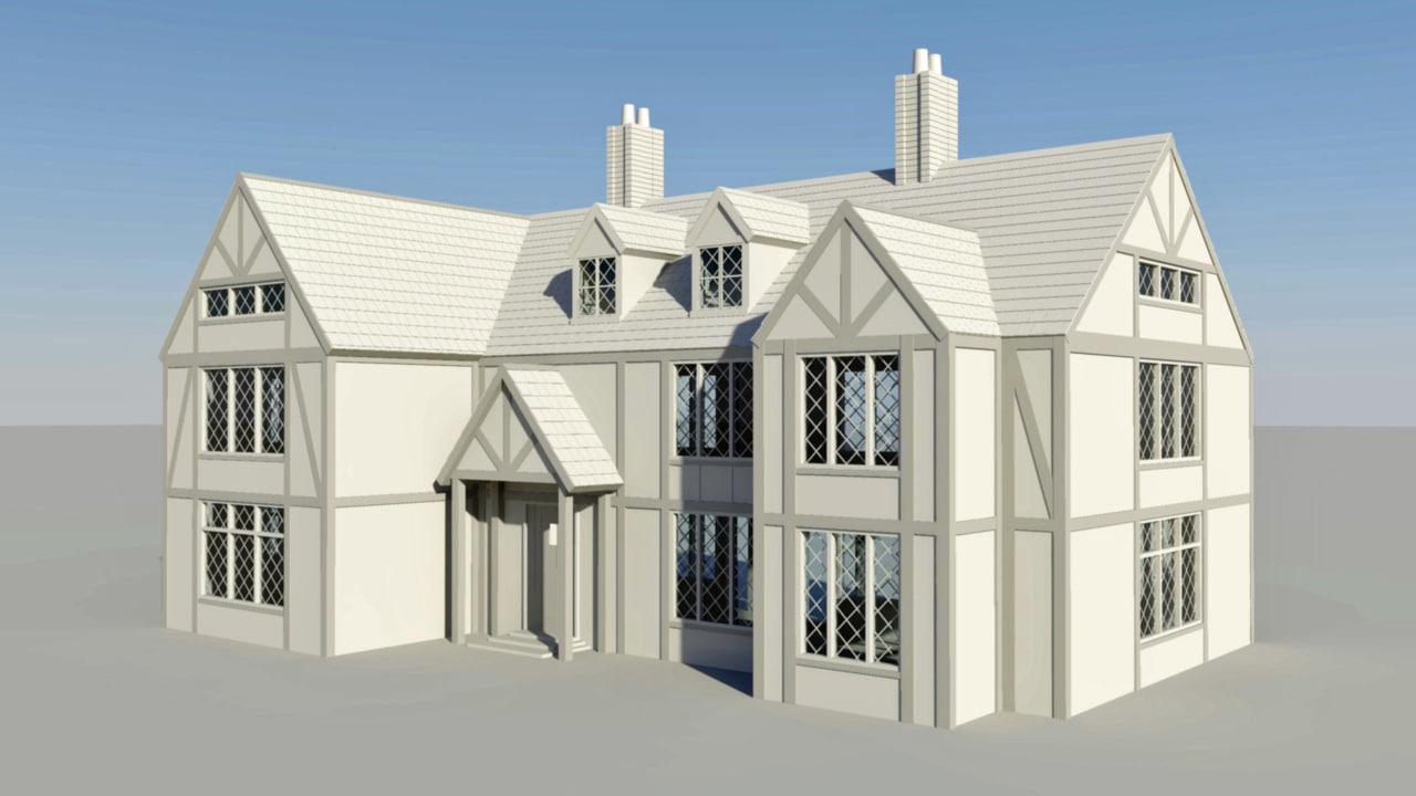 3d elizabethan house