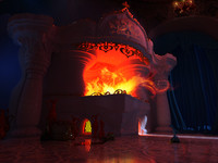 fireplace furnace 3d model