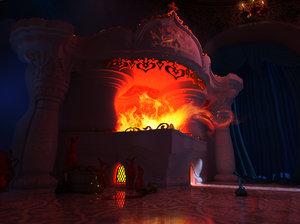 fireplace furnace 3d model
