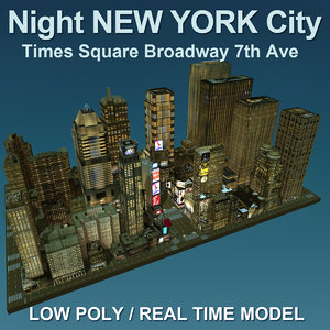 3d night new york city