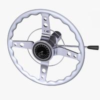 3d steering wheel