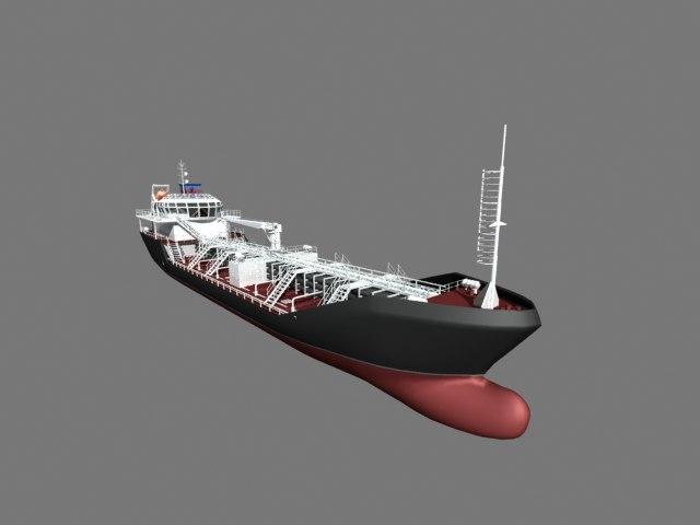 3d model dwt oil tanker