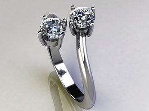 rhino diamond engagement ring